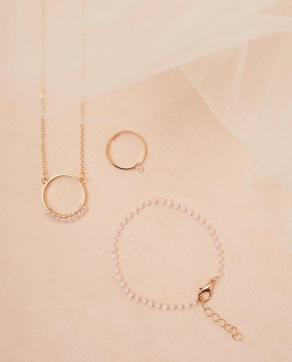 Set aus Halskette und Armband - mit hellrosa Perlen - Milla Star